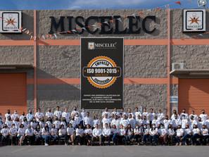 Recibe Grupo Miscelec certificación en la Norma ISO 9001:2015
