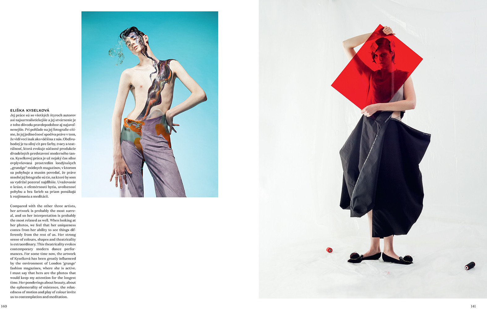 Lav magazine: article about czech fashion photographers by Dusan Kochol