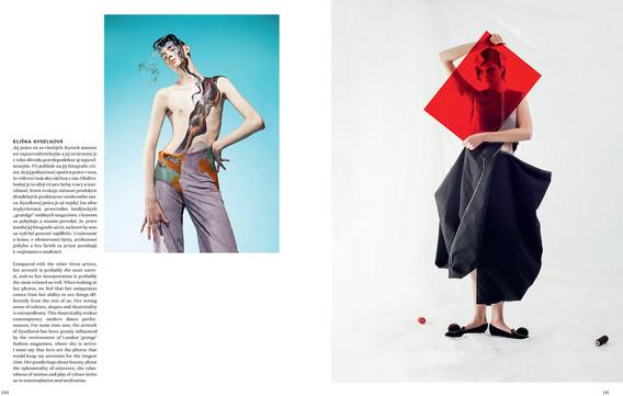 Lav magazine: article about czech fashion photographers by Dusan Kochol