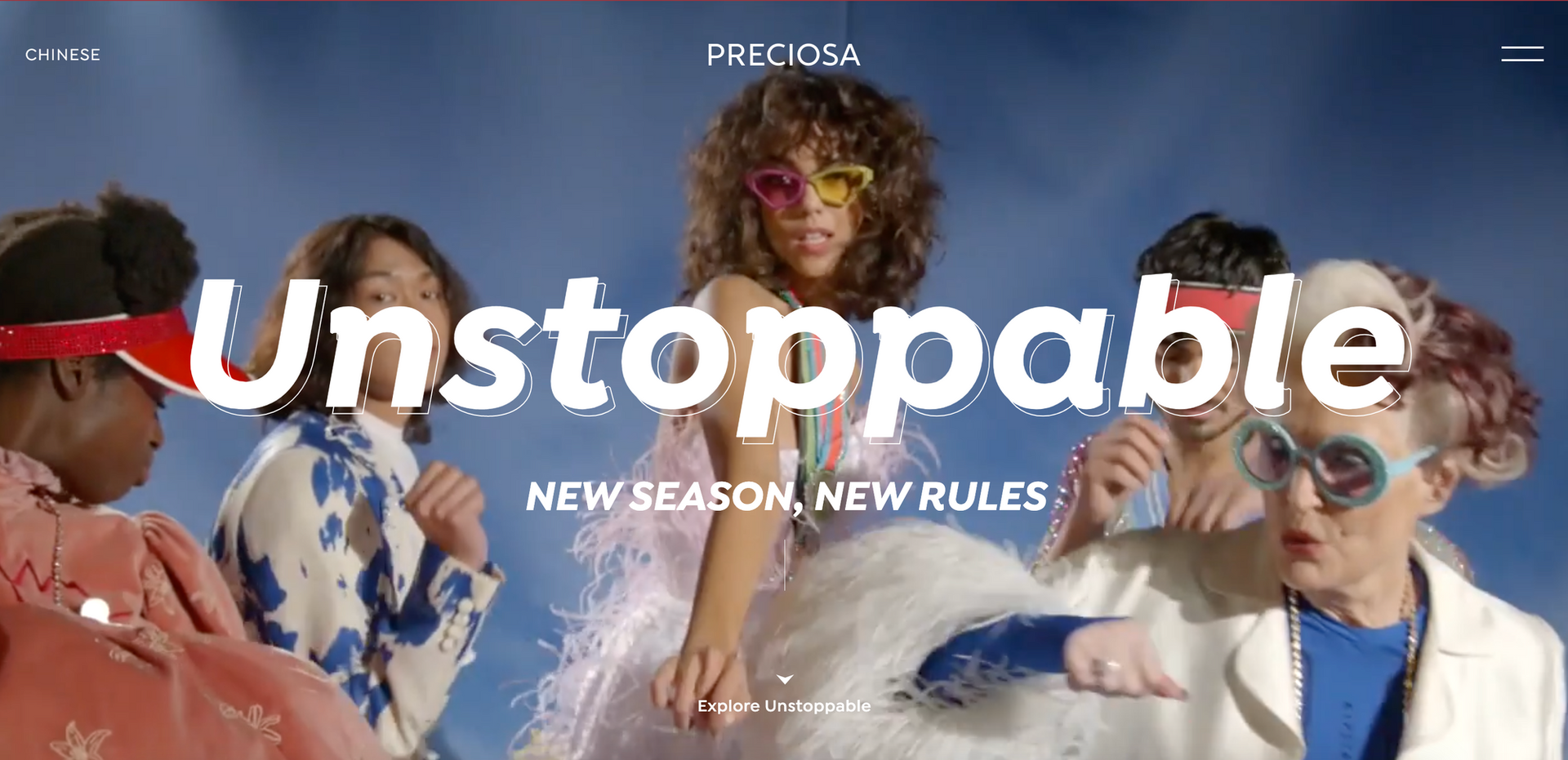 UNSTOPPABLE CAMPAIGN ss22 for Preciosa crystals