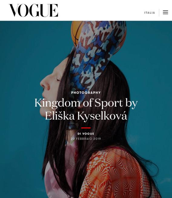 VOGUE ITALIA, fashion story Kingdom of Sport