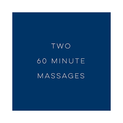 Two 1 hour Massages