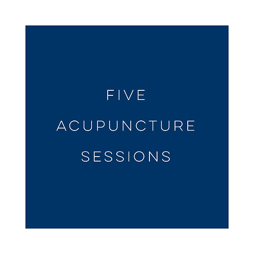 Five Acupuncture Sessions