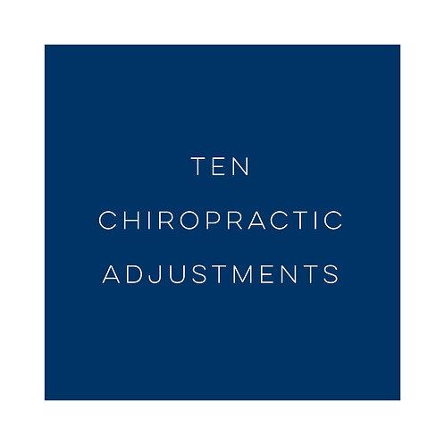 Ten Chiropractic Adjustments