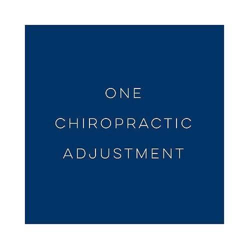 One Chiropractic Adjustment