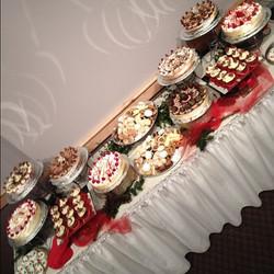 Christmas dessert display