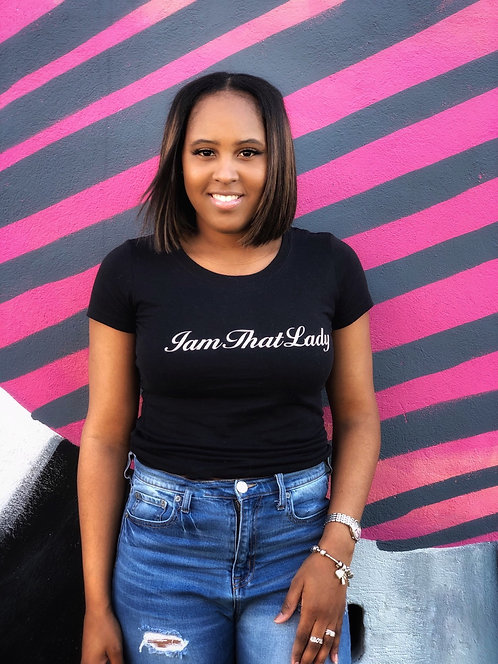 IamThatLady Fitted Signature Tee