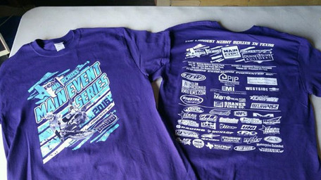 Main Event Shirts are printed up and ready to go!! Come by this weekend and get one!! Only $20.jpg