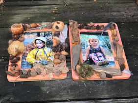 Frames decorated with found treasures