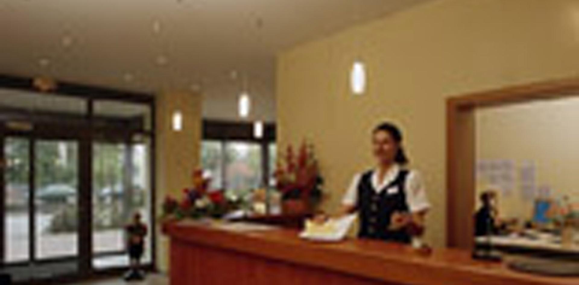 Rezeption des Hotel Wegners