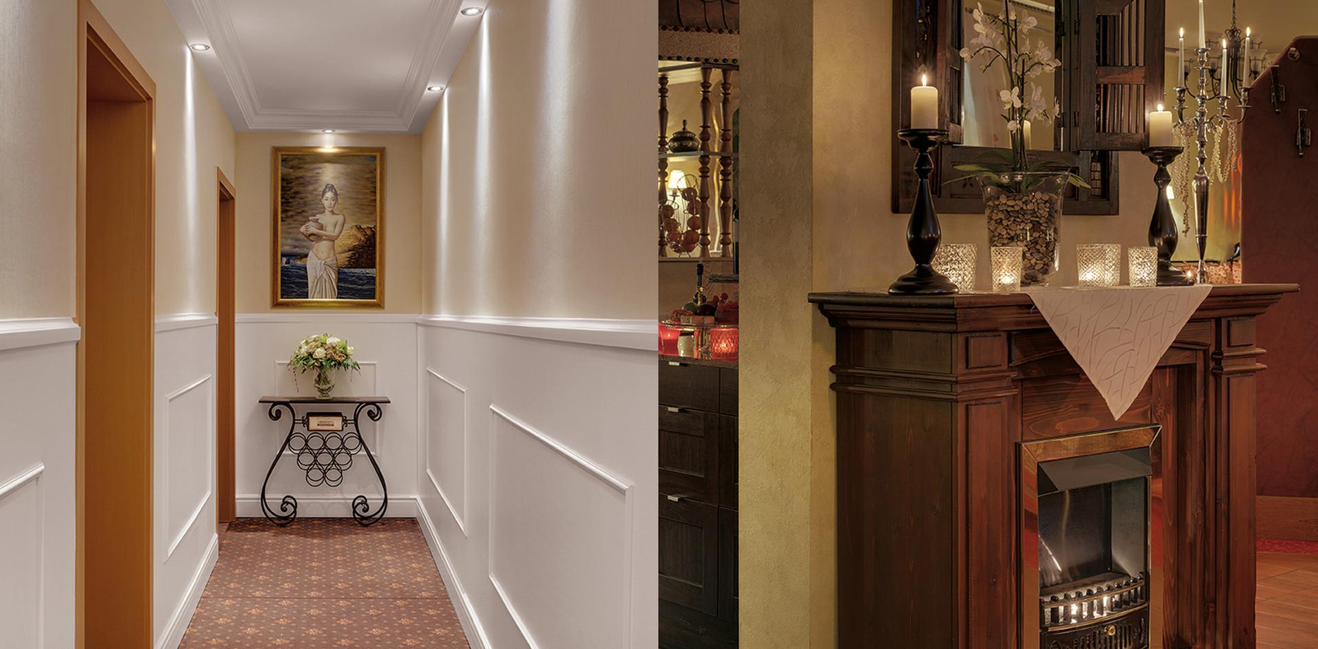 Flur und Kamin Hotel Wegner the culinary art hotel