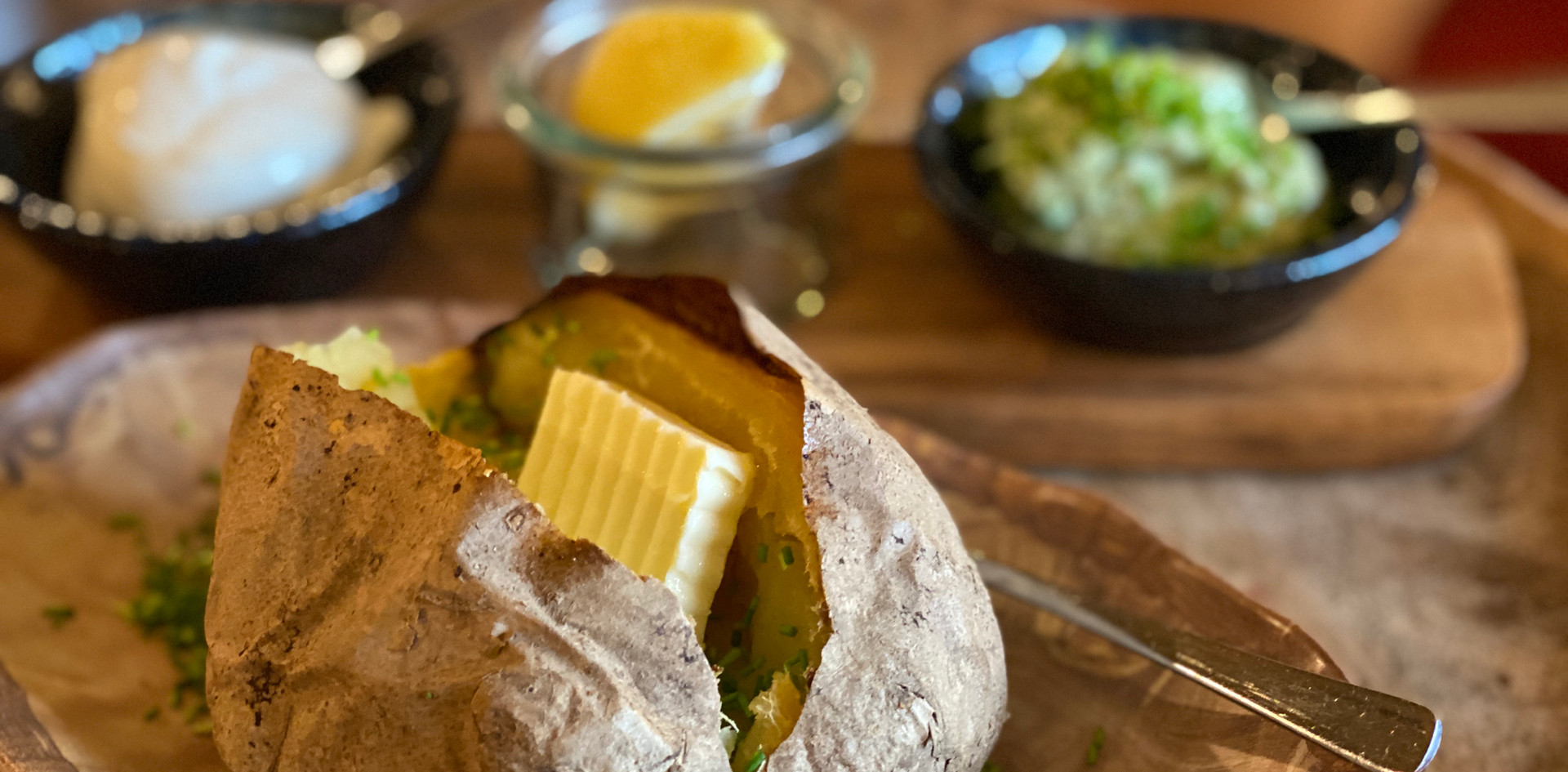 Ofenkartoffel Restaurant Dinner - Hotel Wegner - The culinary Art Hotel