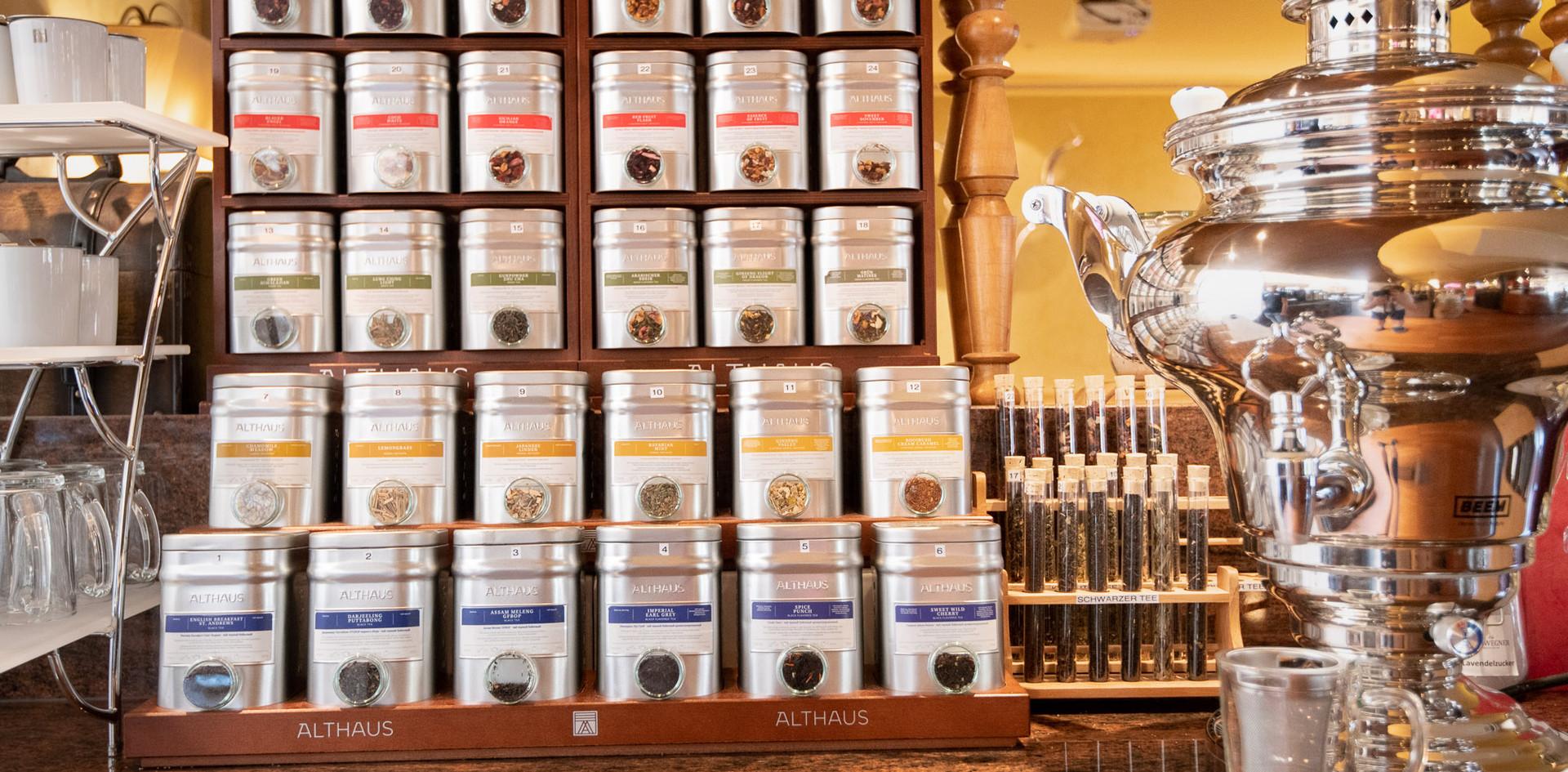 Teeauswahl Althaus Tee Afternoon Tea - Hotel Wegner - The culinary Art Hotel