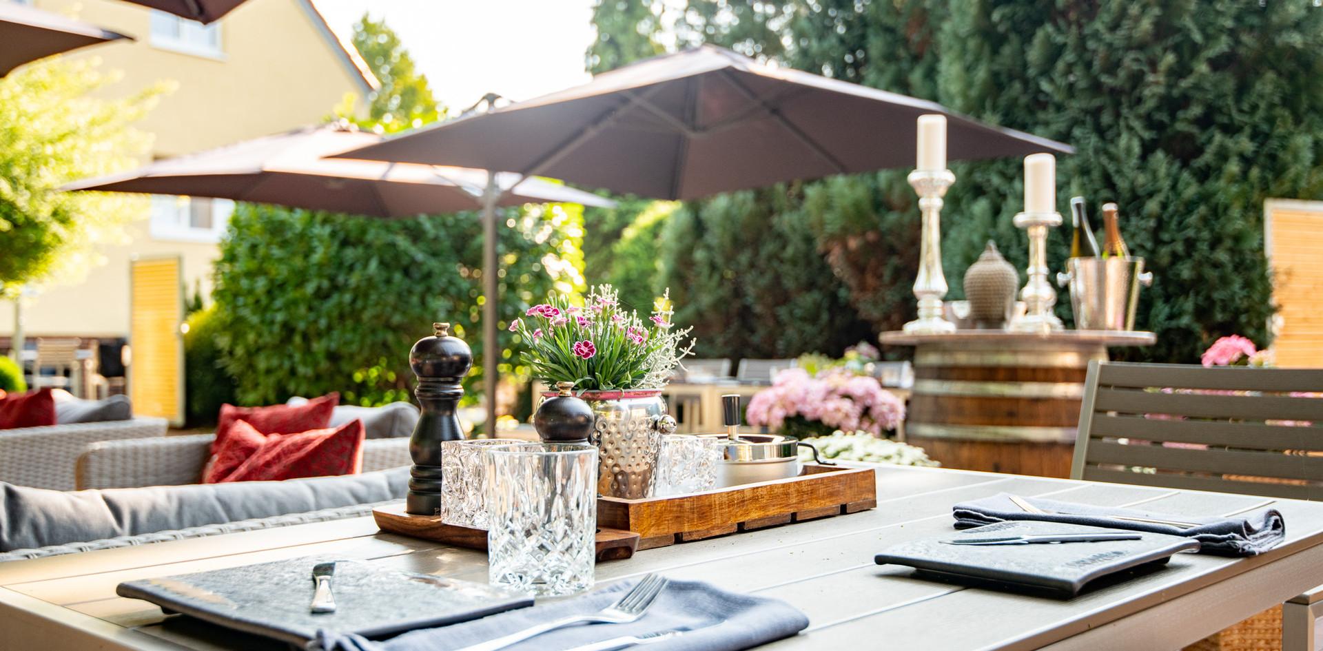 Feiern Gartenterrasse Hotel Wegner - the culinary art hotel