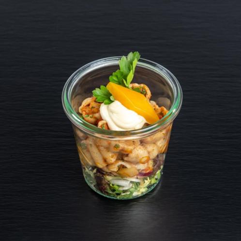 Getrüffelter Nudelsalat im Glas