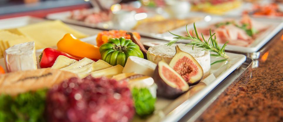 Feigen Käseplatte und Wurst