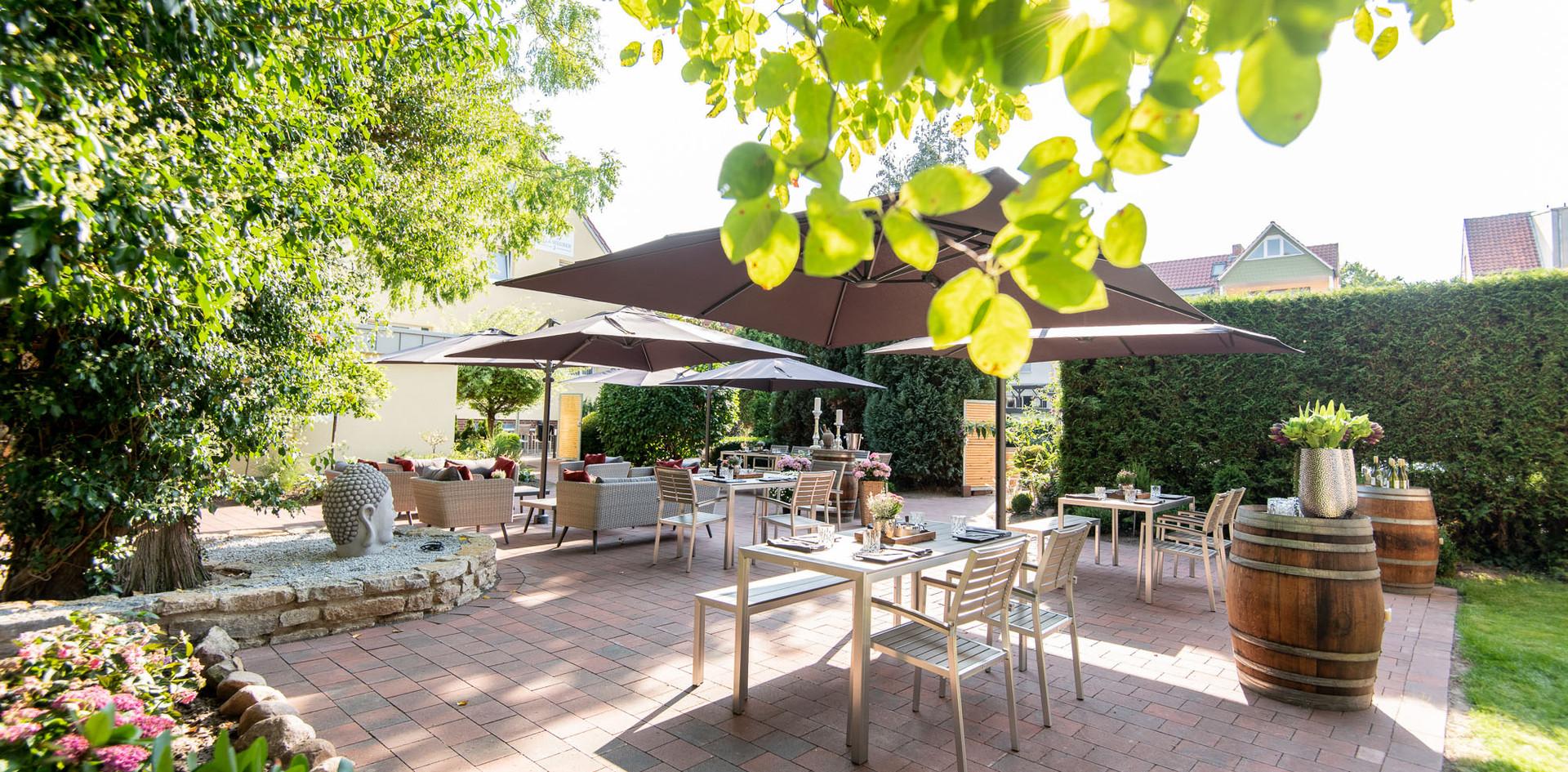 Feiern auf Gartenterrasse Hotel Wegner - the culinary art hotel