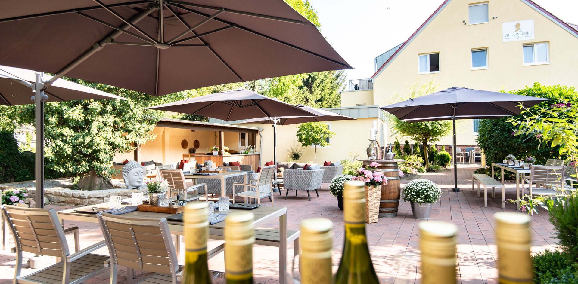 Sektempfang Gartenterrasse Hotel Wegner - the culinary art hotel