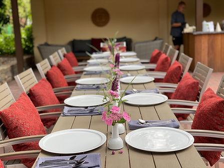 Feiern Speisen im Garten im Hotel Wegner - the culinary art hotel