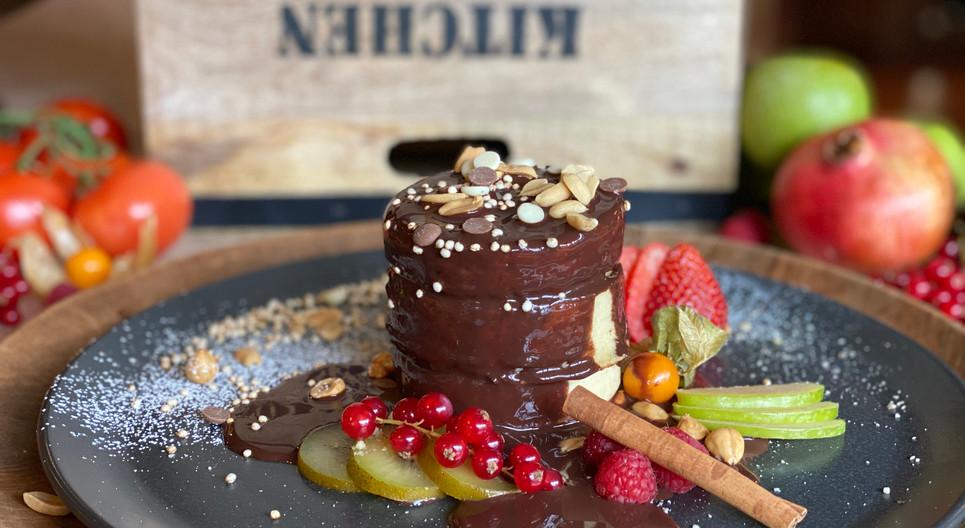 Pancakes mit Schokosauce Frühstücks-Manufaktur - Hotel Wegner - The culinary Art Hotel