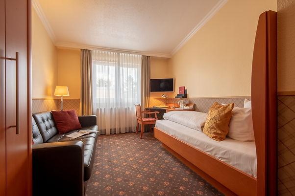 Einzelzimmer Komfort Hotel Wegner mit Coach