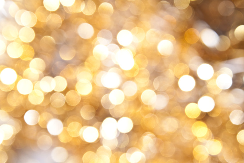 Defocused gold abstract christmas backgr