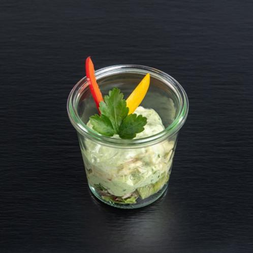 "bunter Kartoffelsalat mit Frankfurter ""Grüner Sauce"""