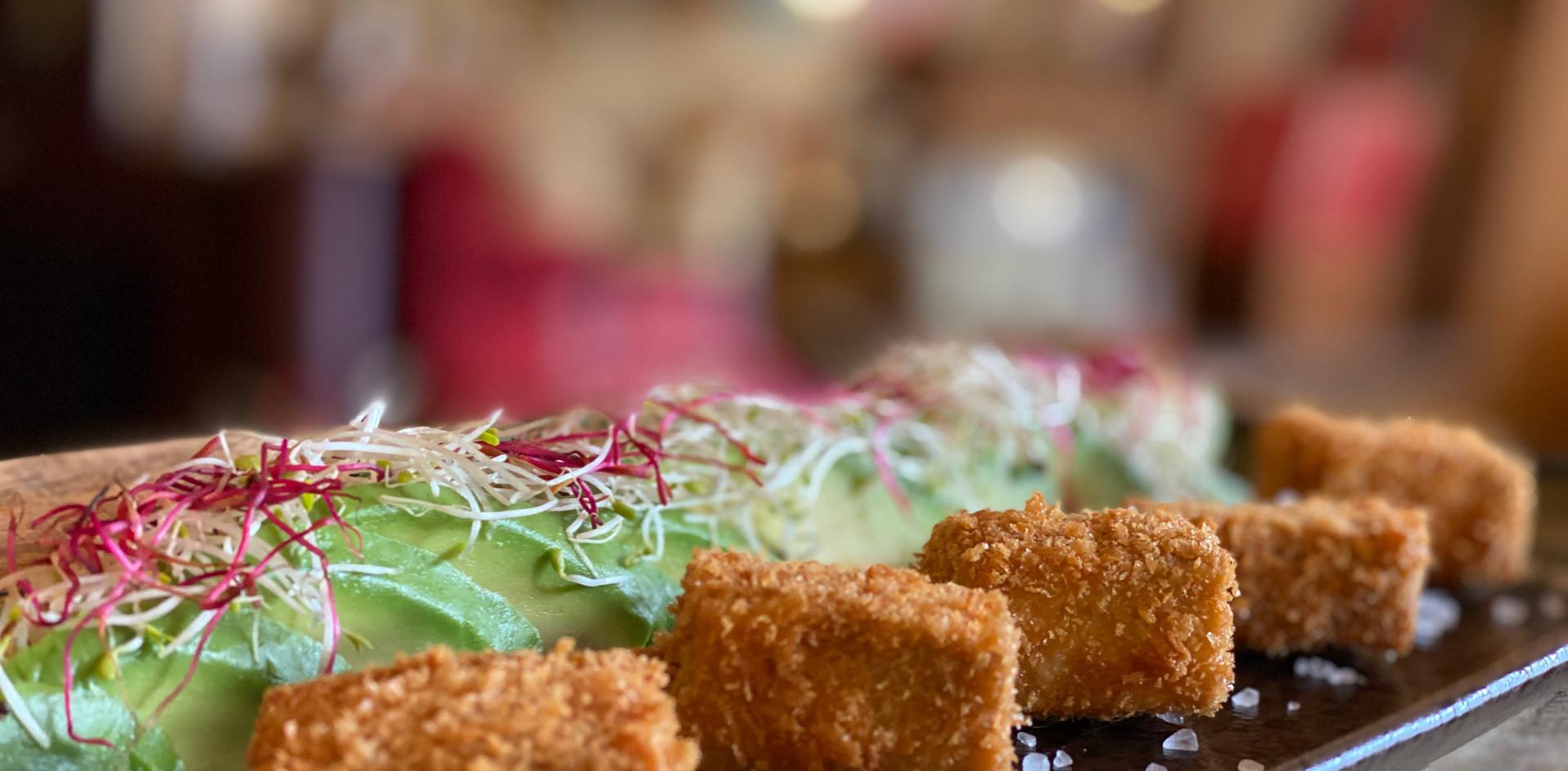 gebackener Tofu Restaurant Dinner - Hotel Wegner - The culinary Art Hotel