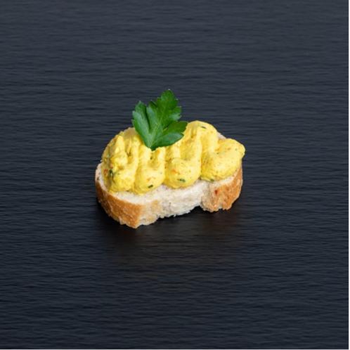 Bruschetta mit Curry-Cream