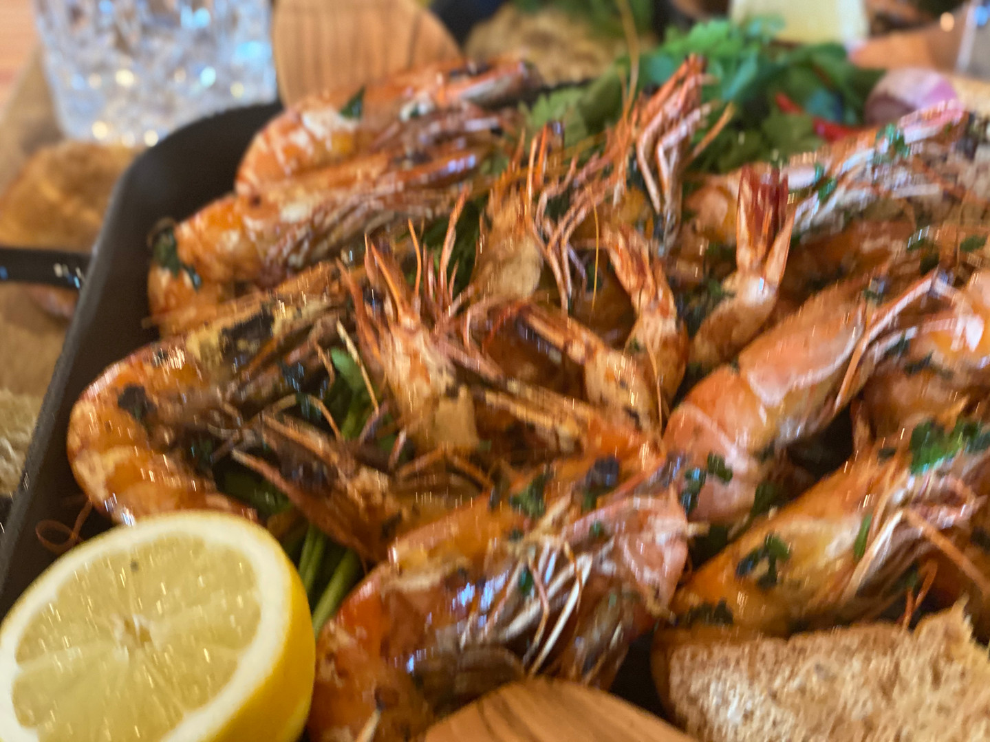 Gambas Lunch & Sweet im Hotel Wegner - the culinary art hotel