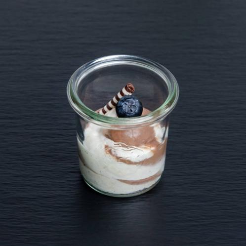 marmorierte Mousse au chocolat