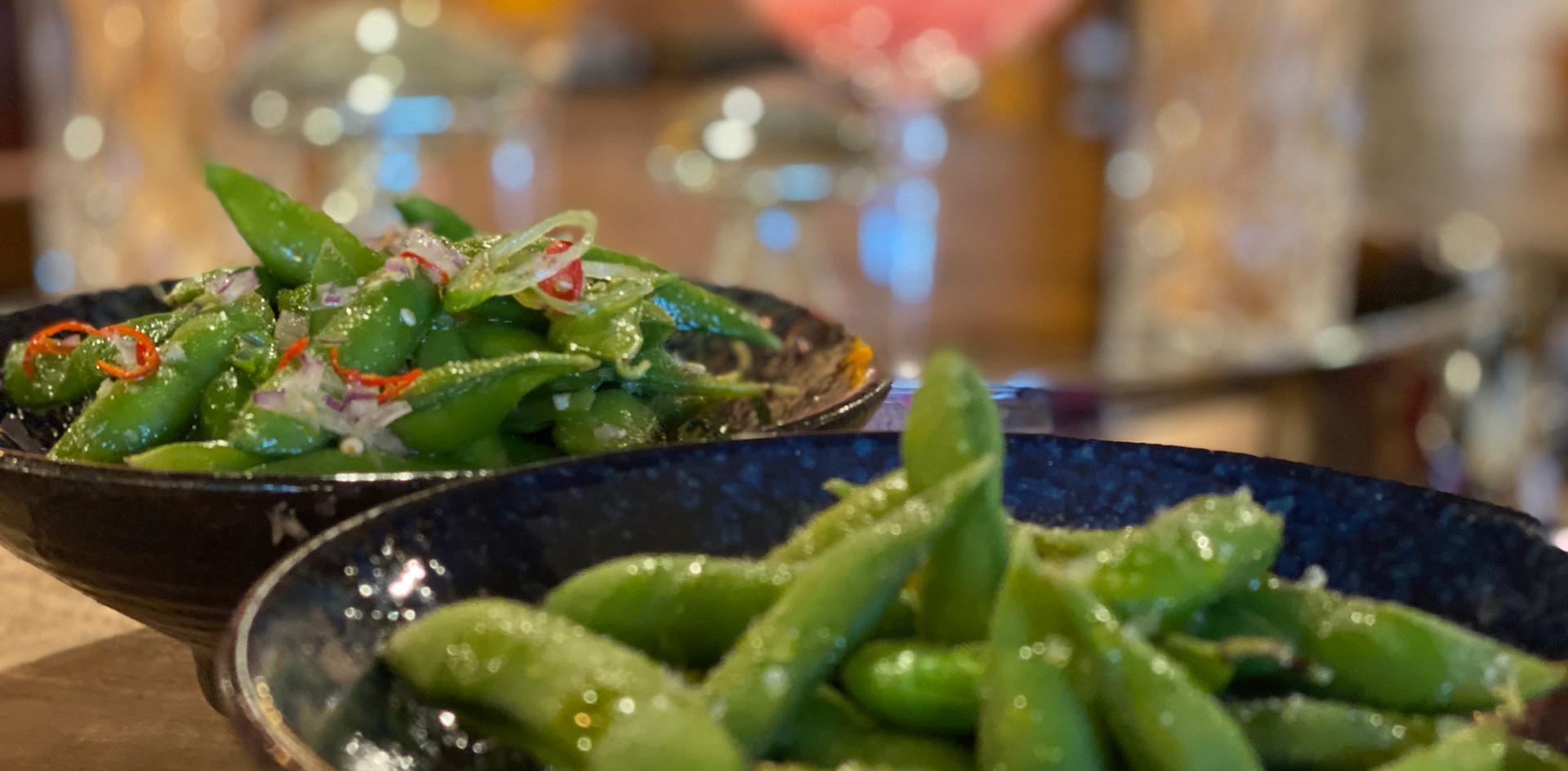 grüne Bohnen Restaurant Dinner - Hotel Wegner - The culinary Art Hotel