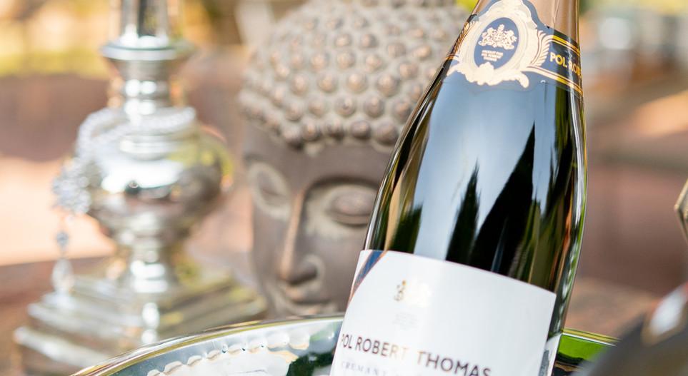Champagner im Garten Hotel Wegner