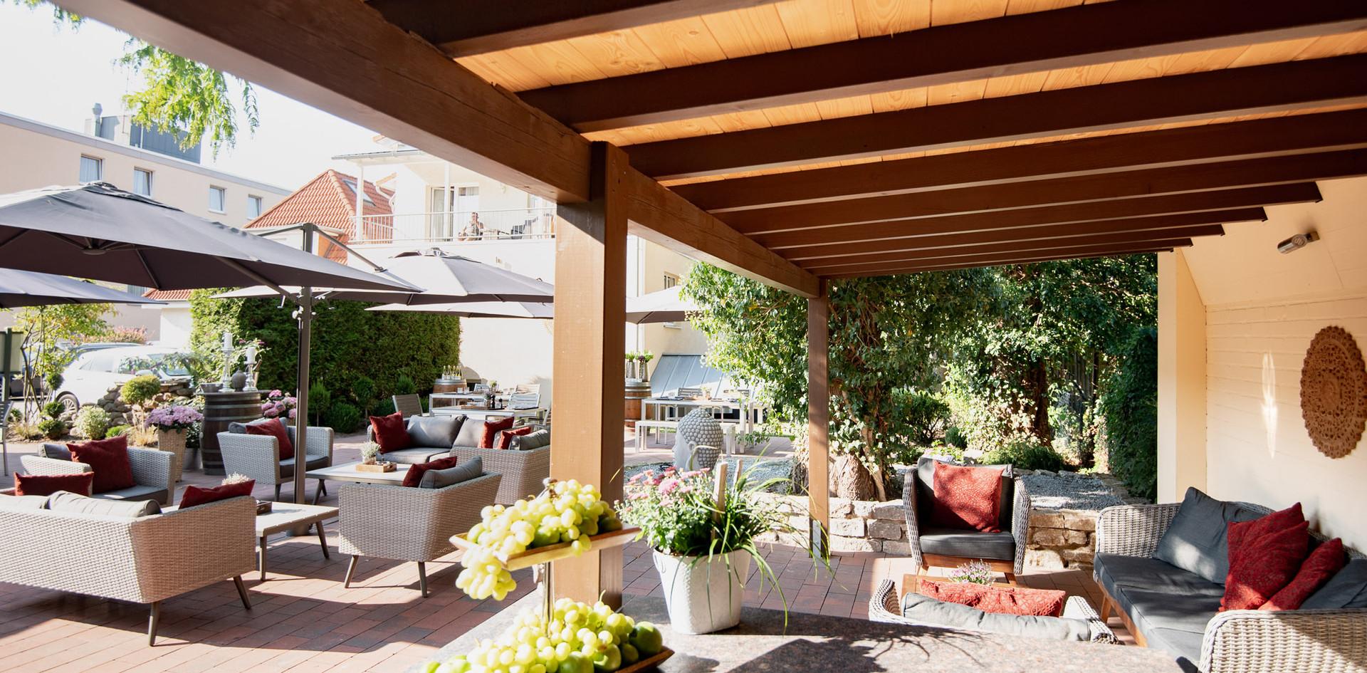 warme Gartenterrasse Hotel Wegner - the culinary art hotel