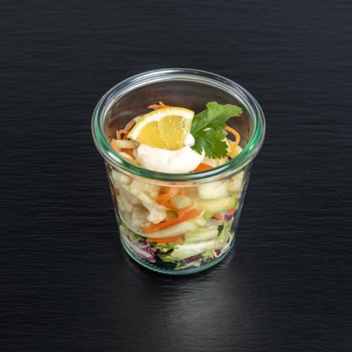 Blumenkohl-Karottensalat mit Koriander und Zitrone