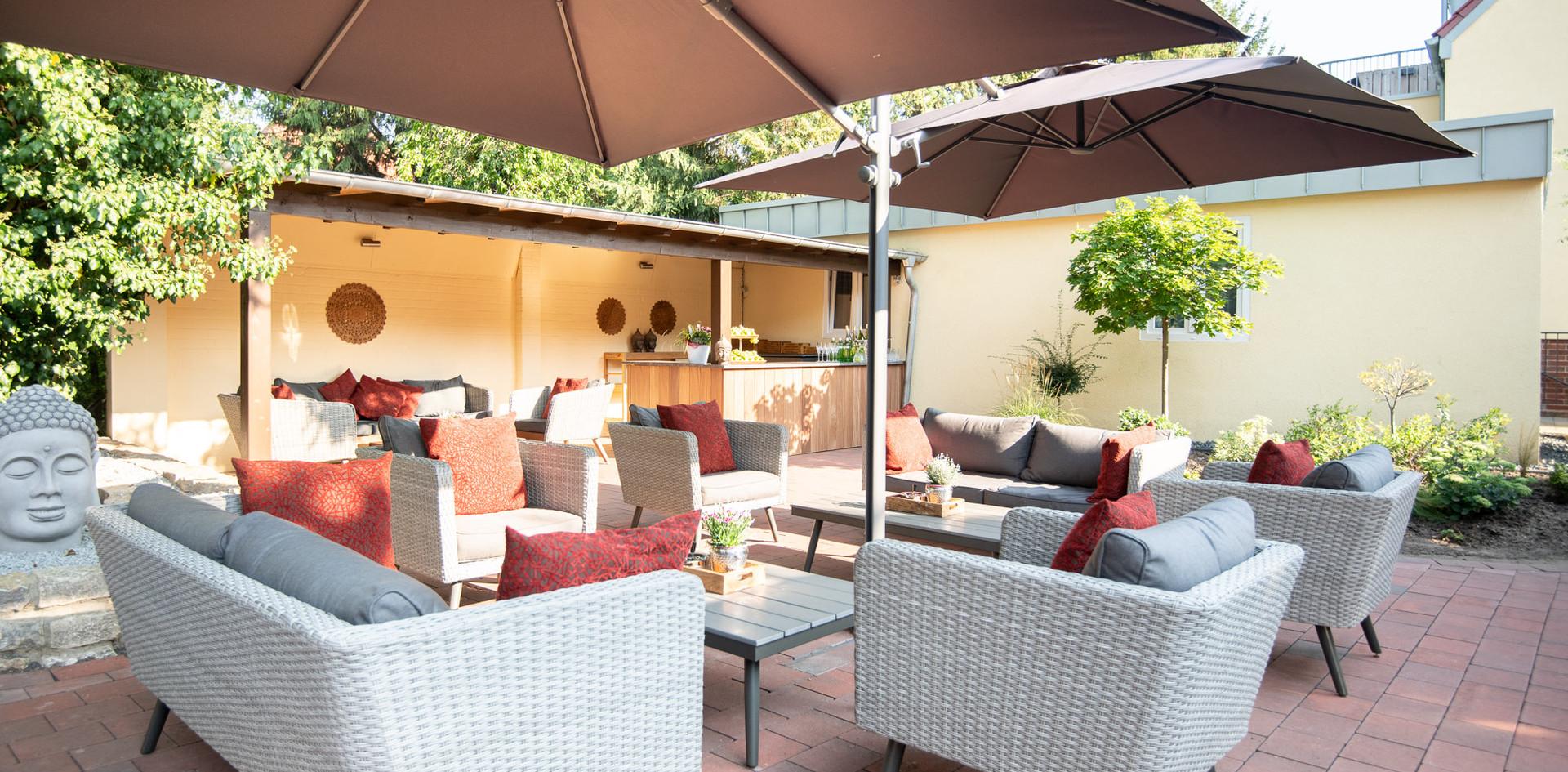 Lounge Bereich Gartenterrasse Hotel Wegner - the culinary art hotel