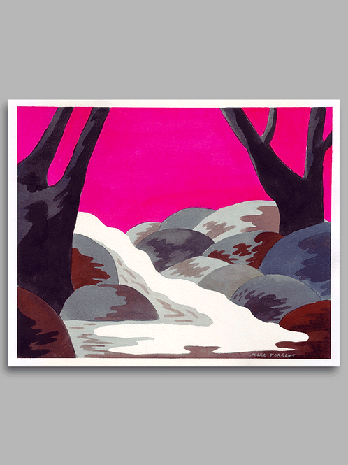 Liquid Landscape with Trees