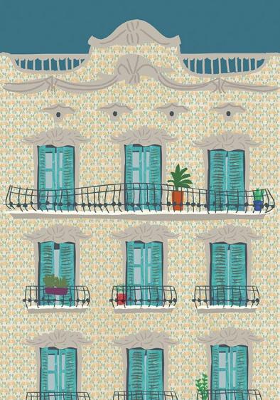Fachada Amarilla Pattern