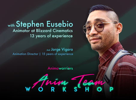 "Meet Stephen Eusebio - Team Lead and Mentor for ""Anim Team Workshop""."