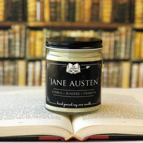 Jane Austen Literary Glass Candle   9oz