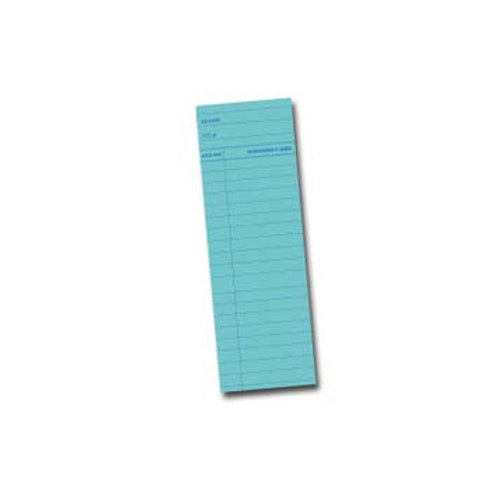 """Blue Library Card Bookmark   2"""" x 6"""""""