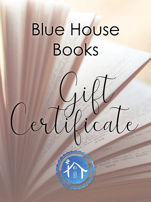Blue House Books Gift Certificate