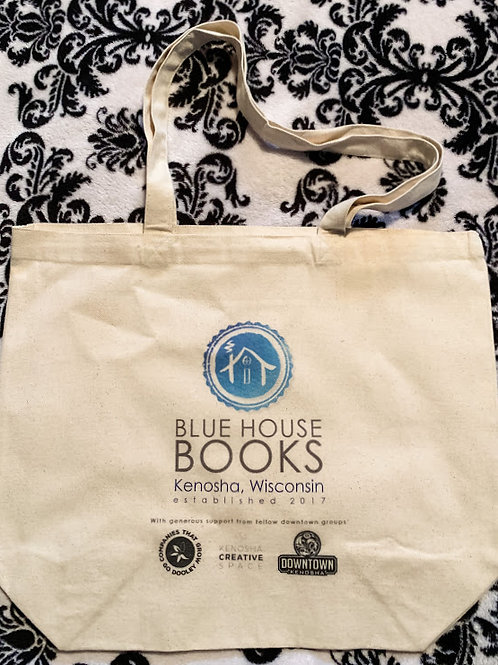 Blue House Books Tote Bag