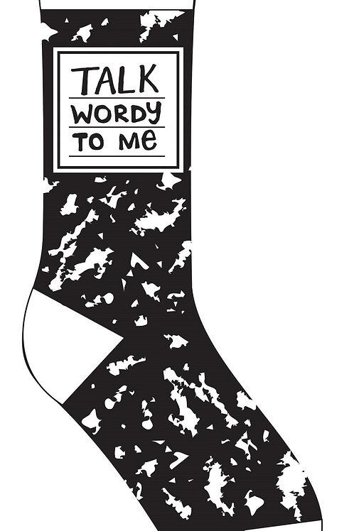 Talk Wordy to Me Socks