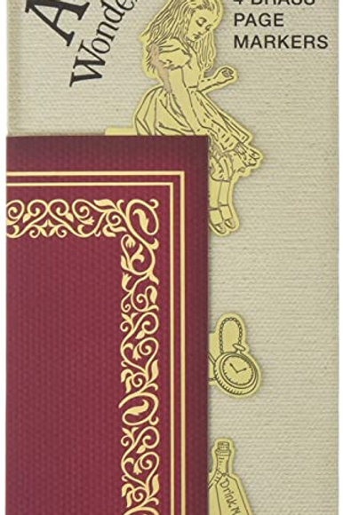 Bookminders Brass Page Markers - Alice in Wonderland