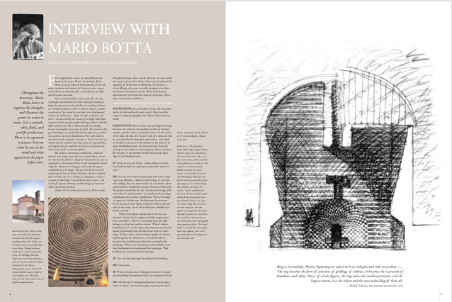 Mario Botta interview with Judith Dupré