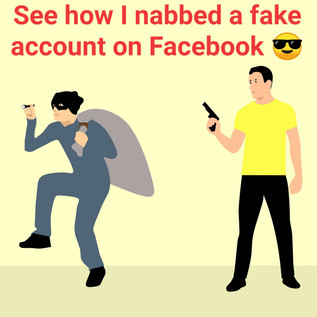 See how I nabbed a fake profile on facebook