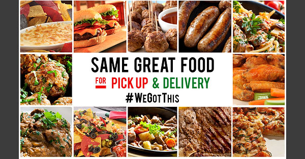 Same Great Food For Delivery & Pickup -