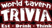 WHITE World Tavern Trivia DEEP RED STROK