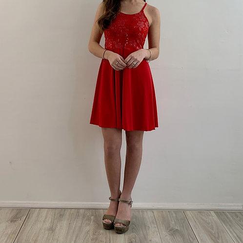 Vestido Agustina rojo